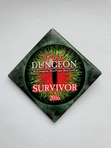 True Dungeon Behold Her Majesty Combat Completion Button (Survivor) - 2016