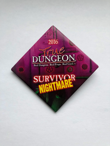 True Dungeon Behold Her Majesty Puzzle Completion Button (Nightmare Survivor) - 2016