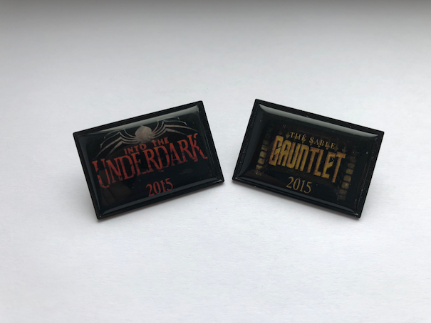 True Dungeon Into The Underdark and The Sable Gauntlet Button Set - 2015