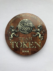 Team Token Button - Brown