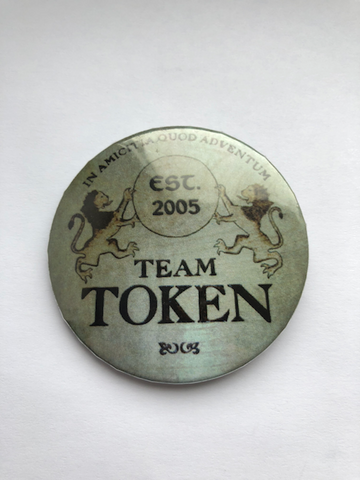 Team Token Button - Gray