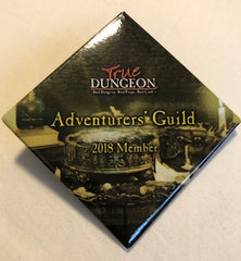 Adventurers' Guild Membership Button/Token/Origins Code - 2018