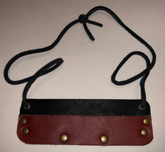 Three Token Leather Lanyard with Character Card Clip by Lunk the Rogue