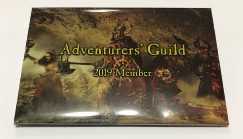 Patron Level - Adventurers' Guild Membership Button, Token, Patron Pin, and Patron Origins Code - 2019