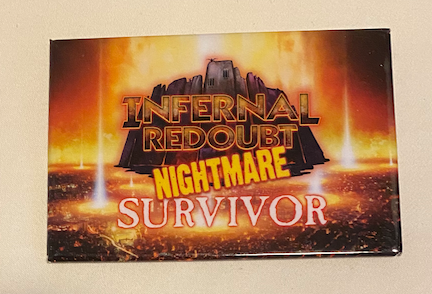 True Dungeon Infernal Redoubt Completion Button (Nightmare Survivor) - 2019
