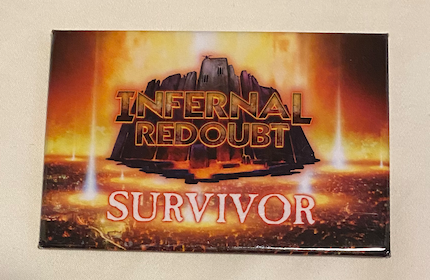 True Dungeon Infernal Redoubt Completion Button (Survivor) - 2019