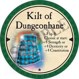 Kilt of Dungeonbane - 2019 (Green) - C56
