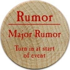 Major Rumor (R) - 2006 (Wooden) - C26