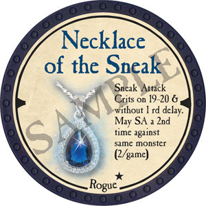 Necklace of the Sneak - 2019 (Blue) - C12
