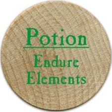 Potion Endure Elements - 2005b (Wooden) - C26