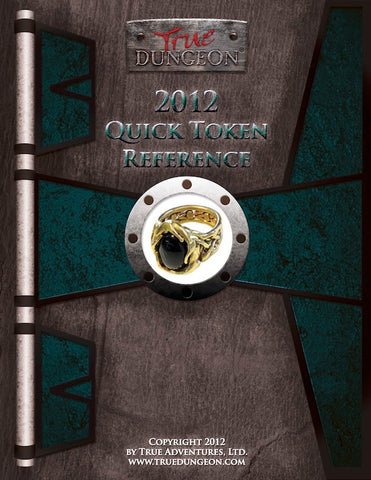 Free Digital Copy - True Dungeon Quick Token Reference 2012