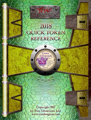 Free Digital Copy - True Dungeon Quick Token Reference 2018