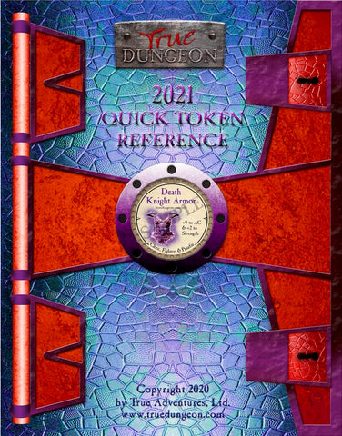 Free Digital Copy - True Dungeon Quick Token Reference 2021