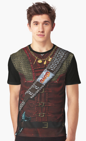 Dungeon Adventure Graphic T-Shirt: Bard