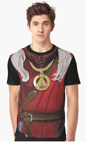 Dungeon Adventure Graphic T-Shirt: Elf Wizard
