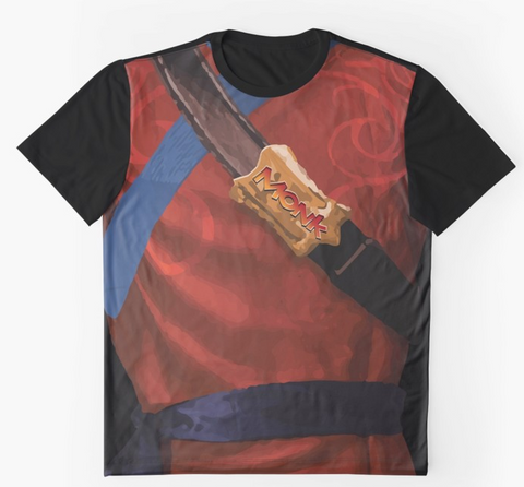 Dungeon Adventure Graphic T-Shirt: Monk