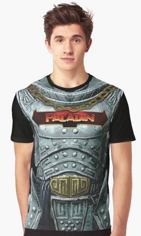 Dungeon Adventure Graphic T-Shirt: Paladin