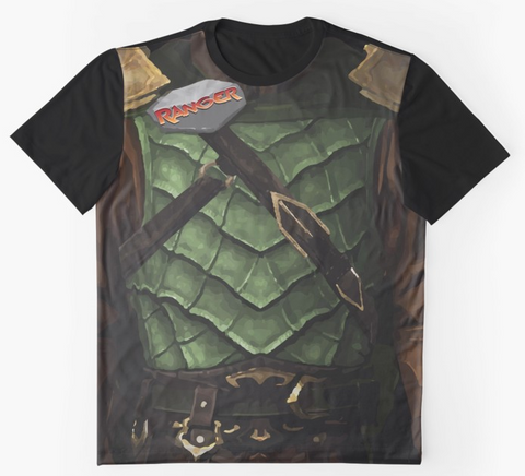 Dungeon Adventure Graphic T-Shirt: Ranger