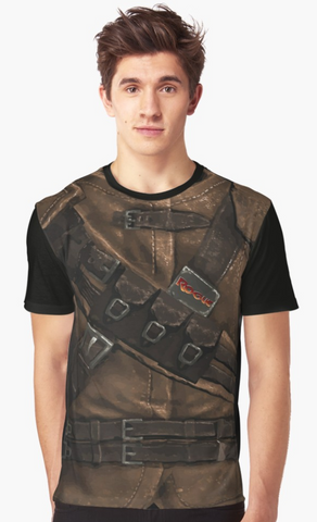 Dungeon Adventure Graphic T-Shirt: Rogue (brown)