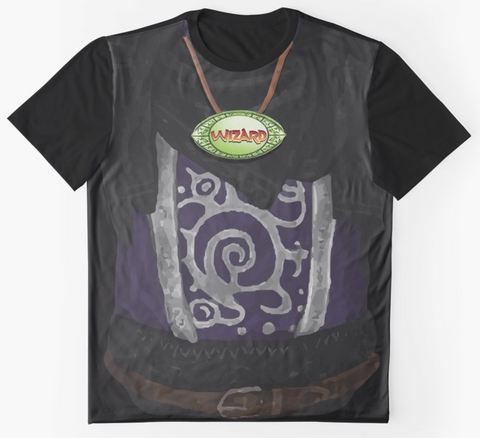 Dungeon Adventure Graphic T-Shirt: Wizard