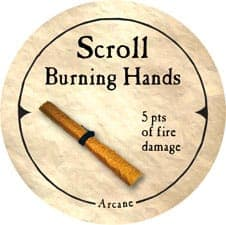 Scroll Burning Hands - 2006 (Wooden) - C26