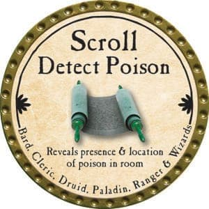 Scroll Detect Poison (C) - 2004 (Wooden)