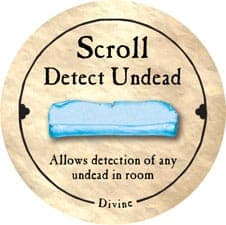 Scroll Detect Undead - 2005a (Wooden)