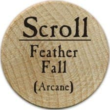 Scroll Feather Fall - 2005b (Wooden)