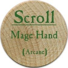 Scroll Mage Hand - 2006 (Wooden) - C26