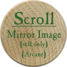 Scroll Mirror Image - 2006 (Wooden) - C26