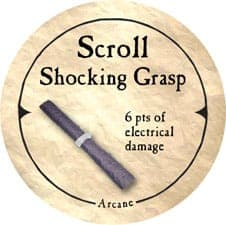 Scroll Shocking Grasp - 2005a (Woodie)