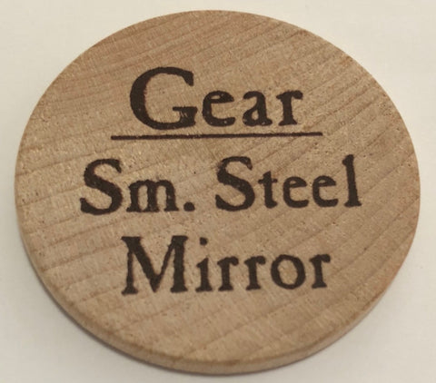 Small Steel Mirror - 2003 (Woodie)