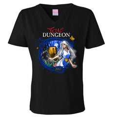 Magical True Dungeon V-Neck T-Shirt of Knowledge
