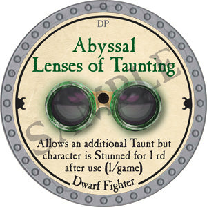 Abyssal Lenses of Taunting - 2018 (Platinum) - C37
