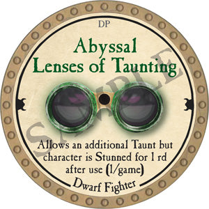 Abyssal Lenses of Taunting - 2018 (Gold)