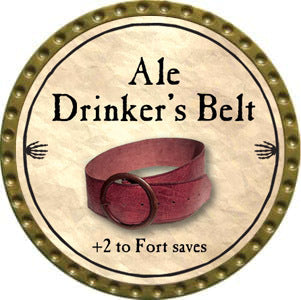Ale Drinker's Belt - 2012 (Gold)