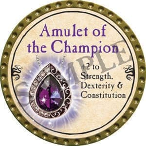 Amulet of the Champion - 2016 (Gold) - C21
