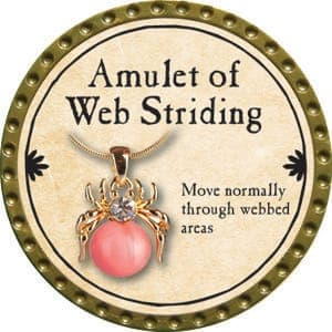 Amulet of Web Striding - 2015 (Gold)