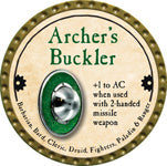 Archer's Buckler - 2013 (Gold)