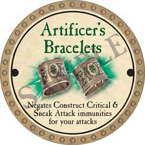 Artificer's Bracelets - 2017 (Gold)