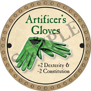 Artificer's Gloves - 2017 (Gold)