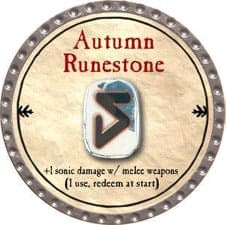 Autumn Runestone - 2009 (Platinum)