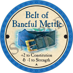 Belt of Baneful Mettle - 2017 (Light Blue)