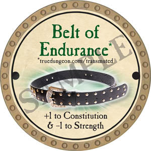 Belt of Endurance - 2017 (Gold) - C37