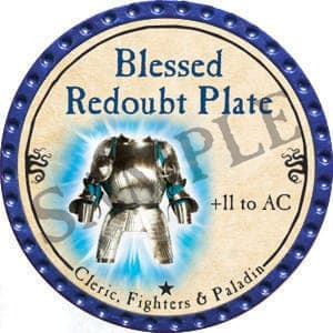 Blessed Redoubt Plate - 2016 (Blue) - C19