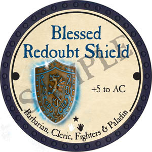 Blessed Redoubt Shield - 2017 (Blue)