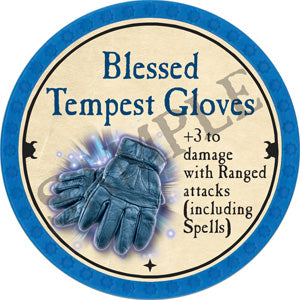 Blessed Tempest Gloves - 2018 (Light Blue) - C3