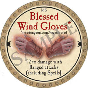 Blessed Wind Gloves - 2018 (Gold) - C10