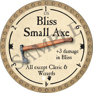 Bliss Small Axe - 2018 (Gold)