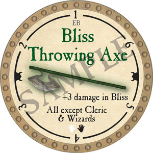 Bliss Throwing Axe - 2018 (Gold)